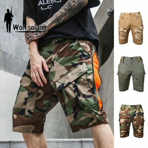 Mens Combat Shorts Army Military Tactical Cargo Pants Waterproof Outdoor Casual