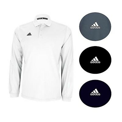 adidas Men's CLIMALITE Long Sleeve Sideline Polo Golf Coaching Sport Polo Tee