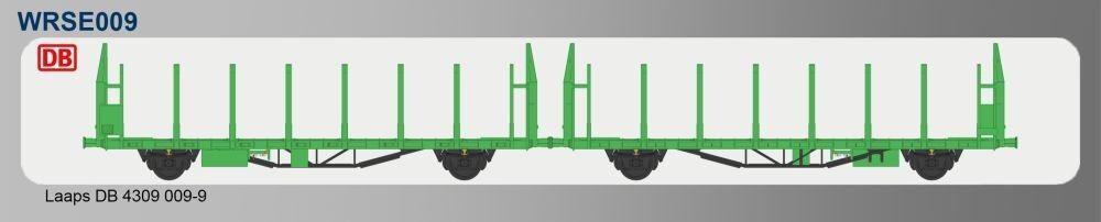 Sudexpress suwrse 009 doppio piatto autorello legno laaps trasporto DB 4309 0990