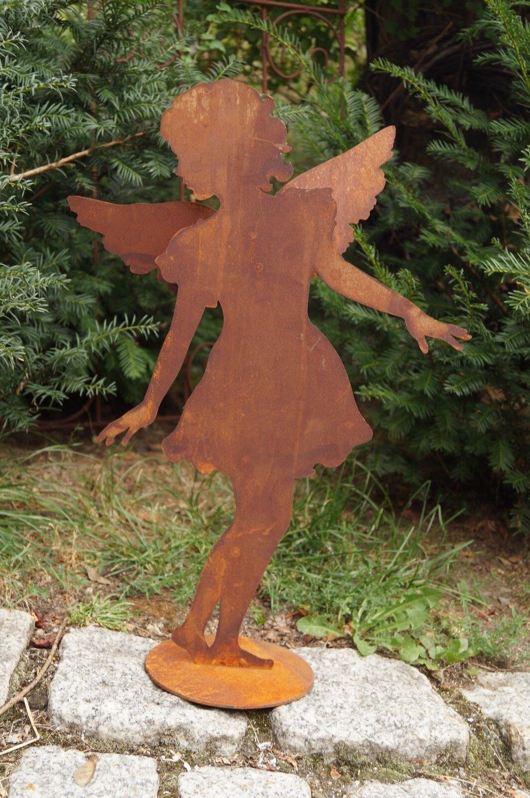 Edelrost Edelrost Edelrost Schutzengel Caro auf Bodenplatte 51x28cm Engelskind Weihnachten | Erste in seiner Klasse  bcb3ad