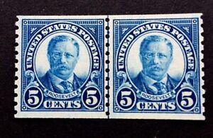 US-Stamps-Scott-602-JLP-5c-1924-VF-XF-M-NH-Sound-specimen-PO-fresh