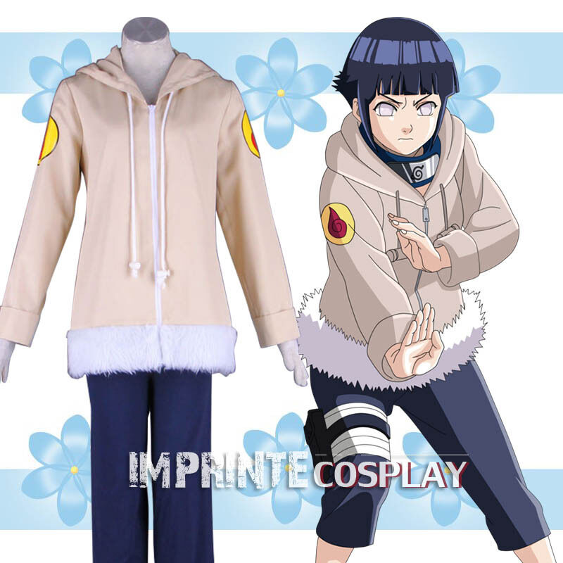 Naruto hinata hyuga kostm cosplay - ensemble complet