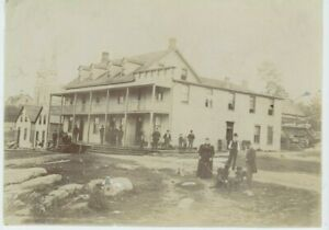 Vintage 8 x 6 Photo Hotel Or Boarding House in Western Town 1890's Towns people