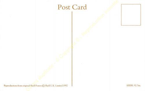 Post Card PUBLICITE ADS SHELL OIL n75 ILLUSTRATION CATHLEEN MANN