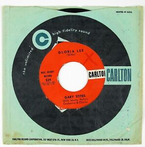 GARY-STITES-Gloria-Lee-Hey-Hey-7IN-1960-ROCK-039-N-ROLL-VG-VG
