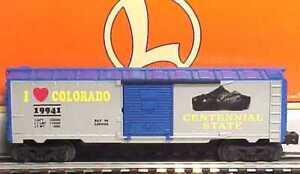 Lionel-6-19941-I-Love-Colorado-Boxcar-LN-Box-C7-387-gt