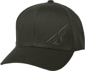 da1002b2d7f Fly Racing F-Wing Flexfit Hat-Black-S M - Mens Lid Cap 191361046834 ...