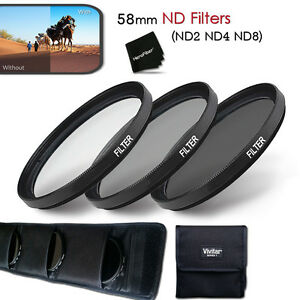 Xtech 58mm ND Filter KIT - ND2 ND4 ND8 for Canon EOS XT