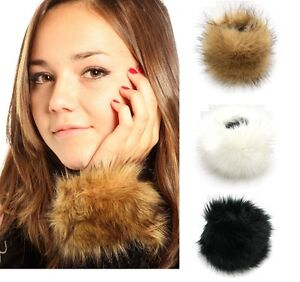 Women's Accessories Womens Ladies One Pair Faux Fur Luxury Wrist Cuffs Winter Furs Cuff Wristband Wristbands