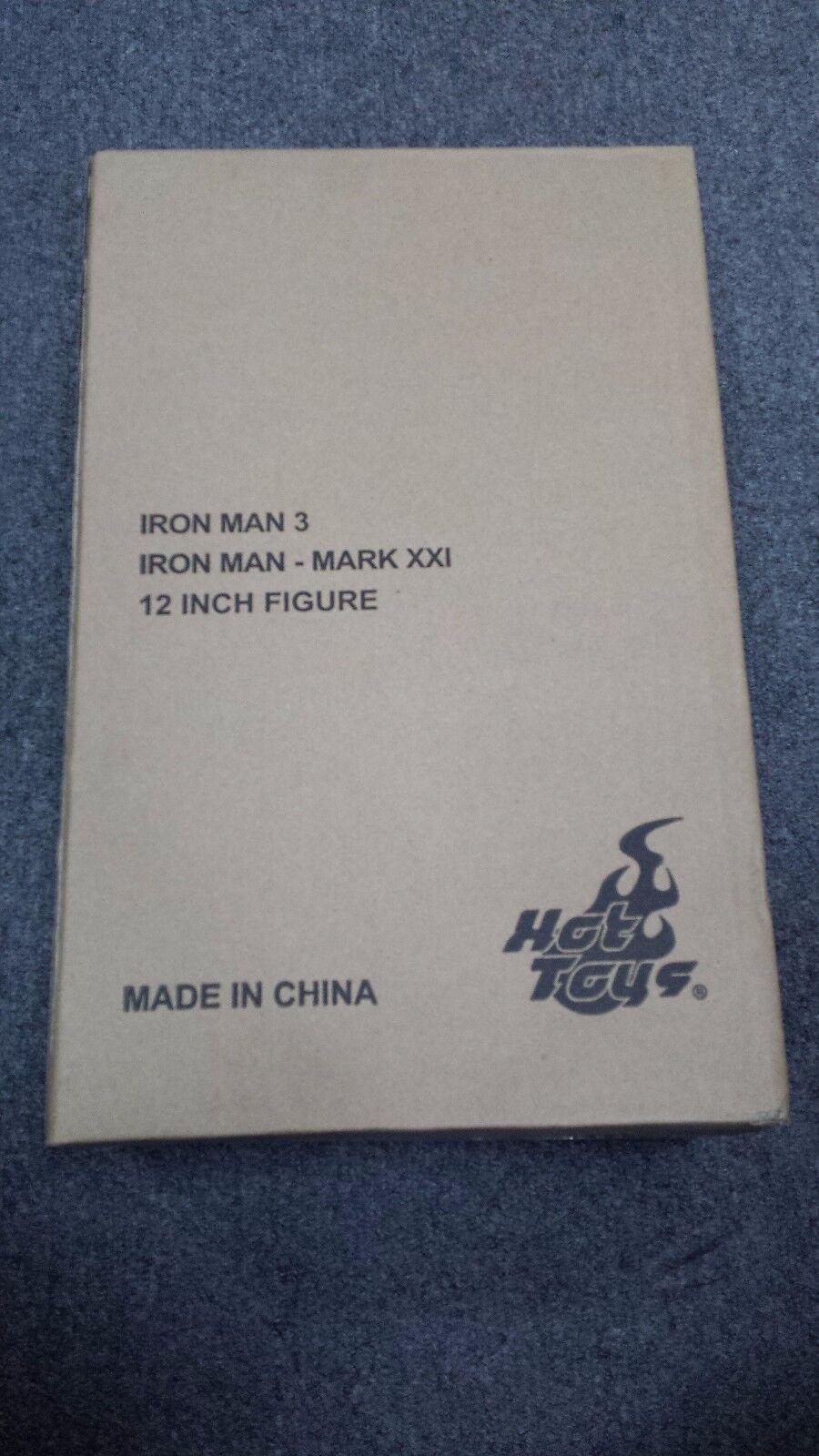 Hot Toys MMS 208 Iron Man 3 Mark XXI xxi 21 Midas Tony 12 in Action Figure NEW