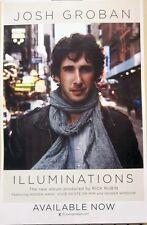 JOSH GROBAN 2010 ILLUMINATIONS promotional poster ~NEW~MINT condition~!!