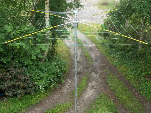 7 BAND HF COBWEB ANTENNA AMIDON FERRITE 1kw, 1000watt 14,18,21,24,28,50 70  MHz