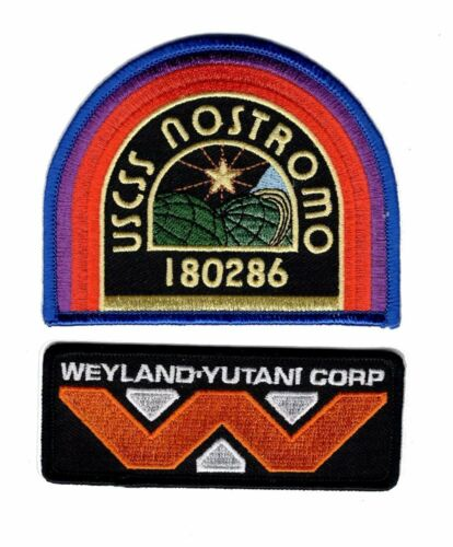 Bundle 2pc-Iron on ALIEN Movie U.S.C.S.S Nostromo Weyland Yutani patch