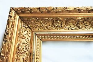 """SM VINTAGE FIT 7 X 9"""" GOLD GILT PICTURE FRAME WOOD GESSO ORNATE FINE ART COUNTRY"""
