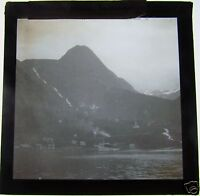 Glass Magic Lantern Slide  MEROK HARBOUR C1900 NORWAY (SEE PHOTO 2 FOR TITLE)