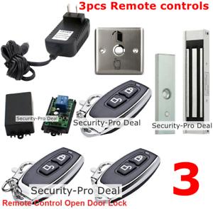 Puerta nuevo sistema de control de Acceso + Cerradura Magnética + Control Remoto Inalámbrico 3PCS controla
