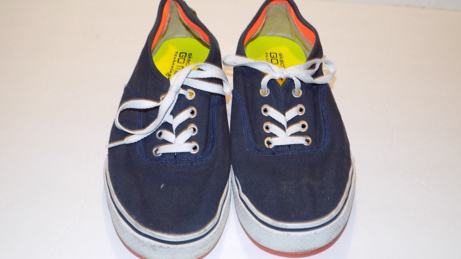 Men's Skechers On The Go 53732 Navy Blue Canvas Sneakers US Comfortable New shoes for men and women, limited time discount