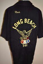 Vintage Long Beach Bowling Shirt 2XL 2X XXL California Fraternal Order of Eagles