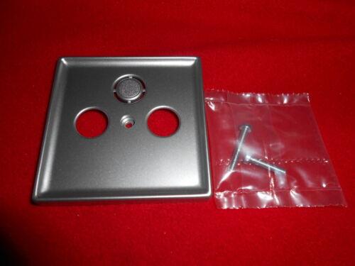 Merten System Fläche Zentralplatte für Antennendose aluminium  294160 A1