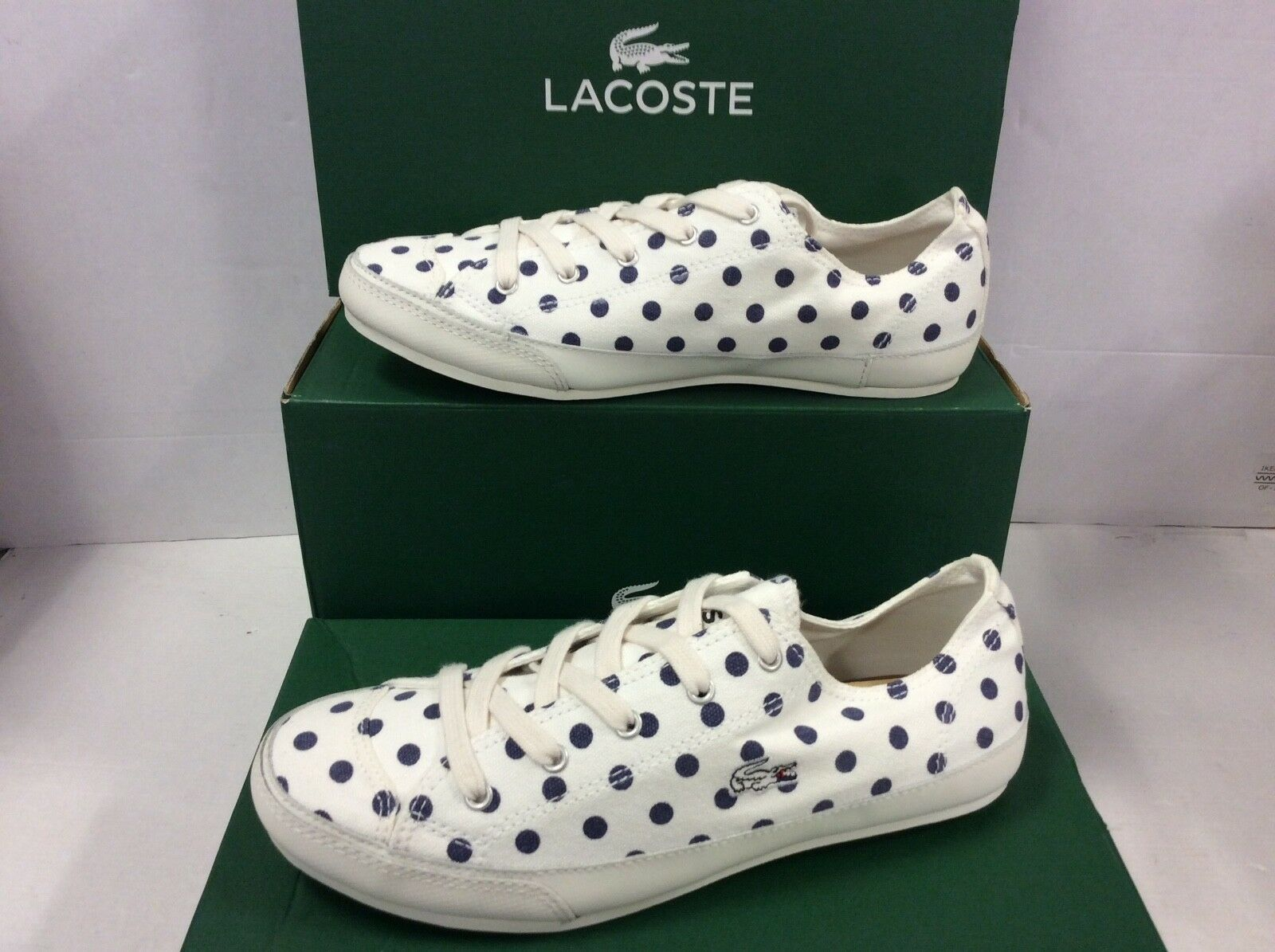 Lacoste Fairburn W10 Women's Sneakers Plimsolls Lace up Size