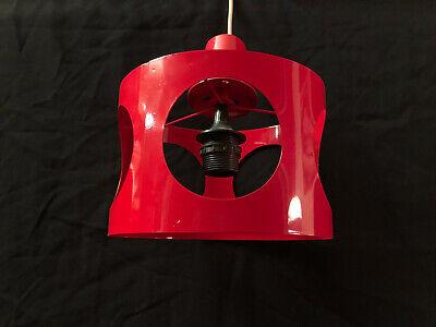 Lampe Suspension Lustre Rouge Design 70s déco ,loft Space Age | eBay