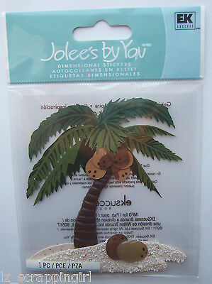 ~PALM TREE~ Jolee's Boutique Dimensional Stickers BEACH Tropical Vacation Hawaii