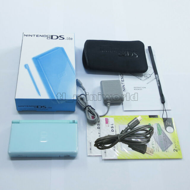 New Ice Blue Nintendo DS Lite HandHeld Console System For DSL Dsi GBA games+gift