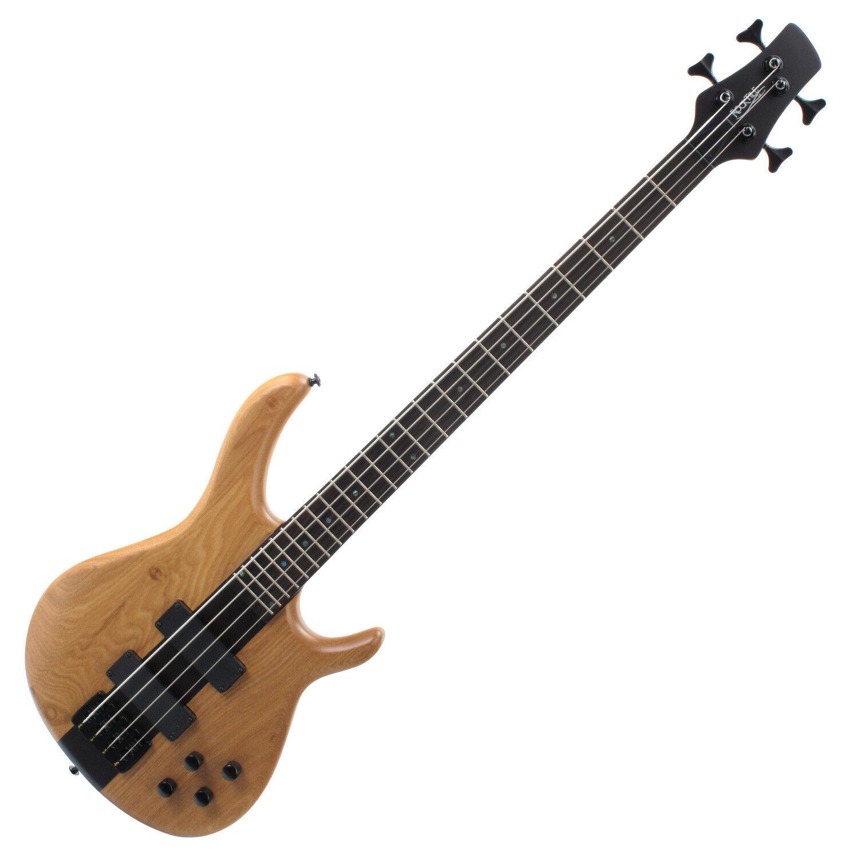 B-Ware Rocktile Pro lb104-n Bass e-bass natural humbucker profondonnate hardware nero