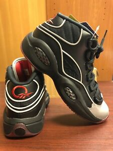 bf6ddb73053 New REEBOK Question Mid A5 Black-Silver-Jadakiss-Allen-Iverson ...