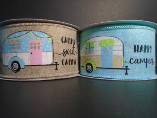 "RV Wire Ribbon 2.5/"" Camper*Caravan*Vacation*Travel*Summer*2 LENGTHS /& 2 COLORS*"