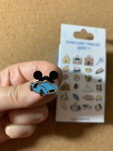 Tiny-Kingdom-Disneyland-Series-3-Blue-Autopia-Car-Vehicle-LR-Mystery-Pin