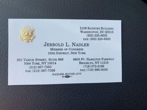 Congressman Jerrold L Nadler Official Business Card