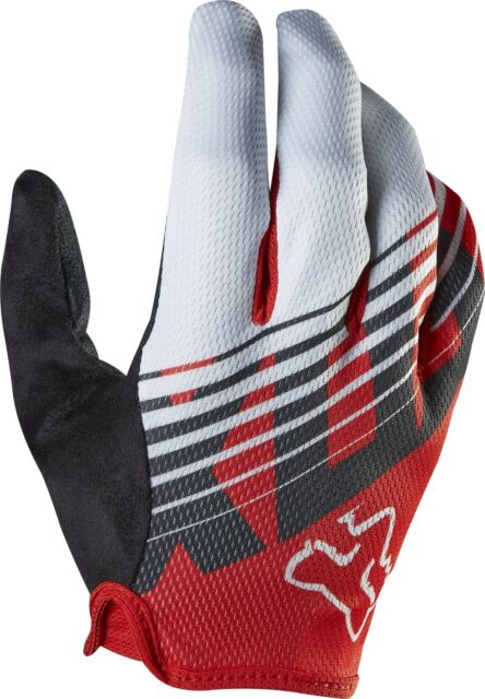 Fox Demo Savant Full Finger Mountain Bike Cycling Glovess Red Size Small New