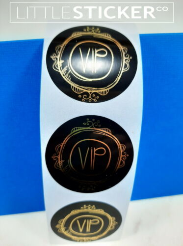Round Black stickers 40mm Personalised Gold Foil labels wedding favour 50-200
