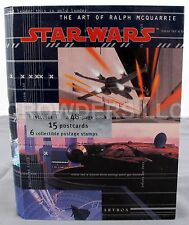 Star Wars Art of Ralph McQuarrie Box w/ 48 Page Book 15 Postcards & 6 Stamps '96