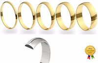 9ct Yellow Gold Dome Shaped Ladies & Gents Wedding Ring Band Hallmarked 2-6mm