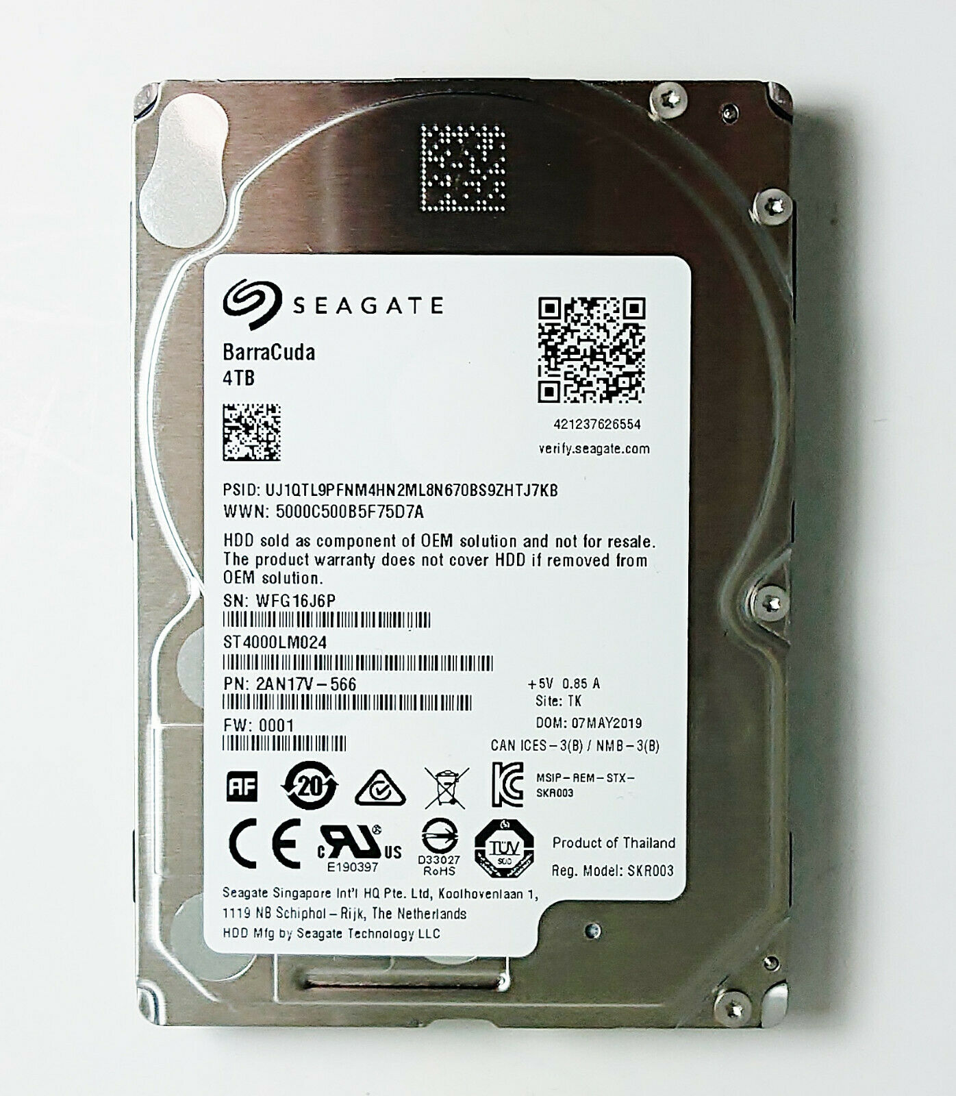 """Lot of 5 Assorted Brand 2.5/"""" 80GB 5400RPM 1.5Gbps 8MB SATA Laptop HDD Hard Drive"""