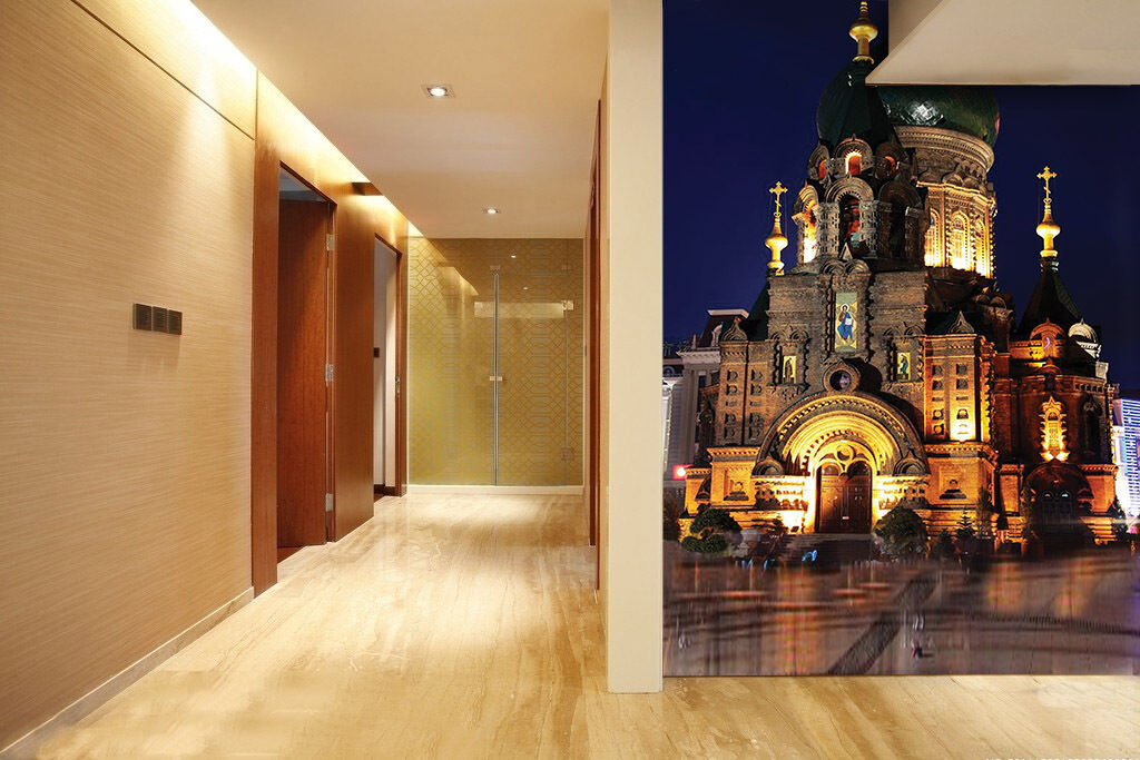 3D Dome Tall Building Paper Wall Print Wall Decal Wall Deco Indoor Murals