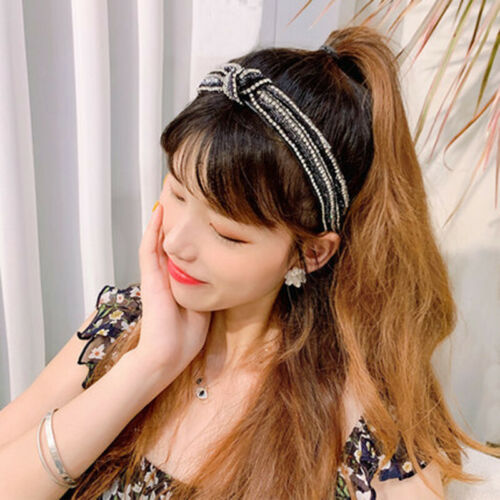 Baroque Ladies Embellished Tie Headband Jewelled Hairband Knot Alice Hair Band
