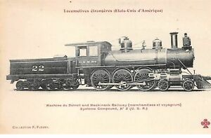Ee-N-50924-Locomotora-22-Detroit-And-Mackinack-Railway-Tren