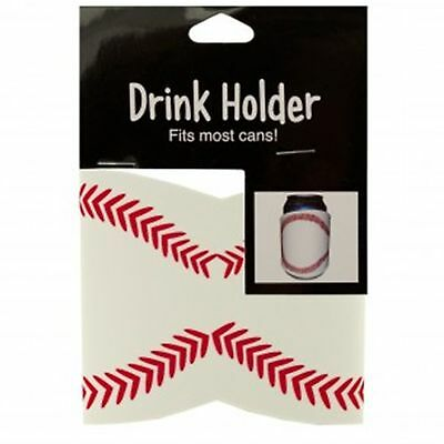 6 CAN DRINK BEER HOLDER KOOZIE BASEBALL Fast FREE US Shipping