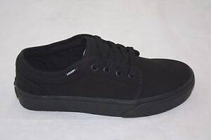 922e3418b8 NEW MEN S VANS 106 VULCANIZED ALL BLACK LOW TOP LACE UP VN-099ZBLK ...