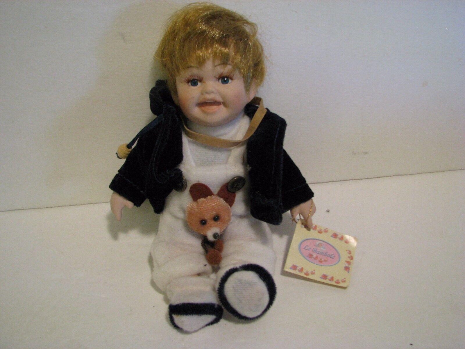 Vintage Le Bambole  - Porcelain Doll - GESCO KID  - Handmade -