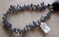 9 Strand Diamond Polish Labradorite Gemstone Faceted Drop Briolette Beads
