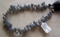 9 Strand Diamond Polish Labradorite Gemstone Faceted Drop Briolette Beads