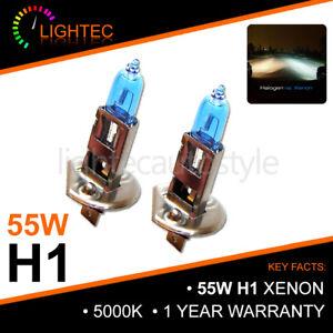 H1 55W XENON SUPER WHITE BULBS MAIN BEAM 12V HALOGEN UPGRADE LIGHT 5000K PUG