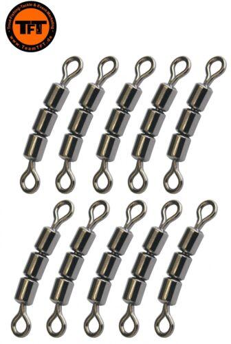 TFT 3-fach Wirbel Tecno 10 Forellenwirbel Angelwirbel Dreifachwirbel