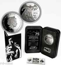 2014 BATMAN INTERACTIVE COIN 2ozSilver LIMITED EDITION 75th Anniversary$5 Proof