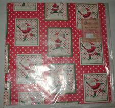 """4 Sheets 27-1/4"""" x 19-1/4"""" Skating & Skiing Santa Claus Christmas Gift Wrap"""