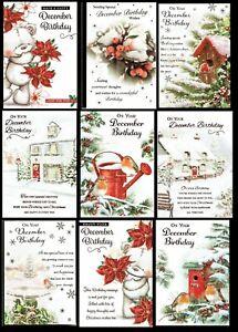 DECEMBER BIRTHDAY ~ Quality Christmas Season BIRTHDAY CARD ~ CHOICE of DESIGNS